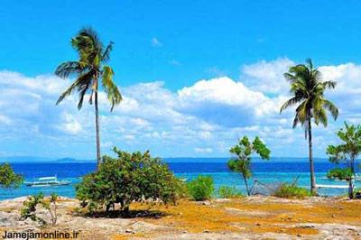 منظرهای بدیع از جزیره پامیلاکان در مجمعالجزایر بیزایاس در فیلیپین در دریای بوهول. این جزیره 5/2 کیلومتر طول و 500 متر عرض دارد. عکس آلیس اوب�