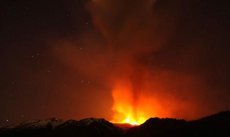 آتشفشان فعال در سیسیل ایتالیا