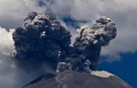آتشفشان فعال در مکزیک