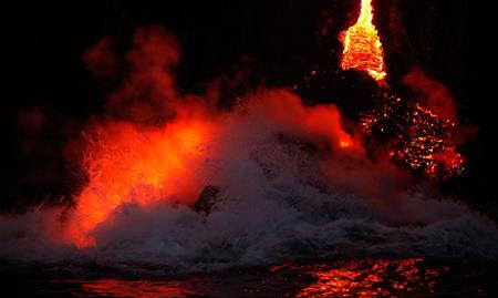 آتشفشان فعال در هاوایی