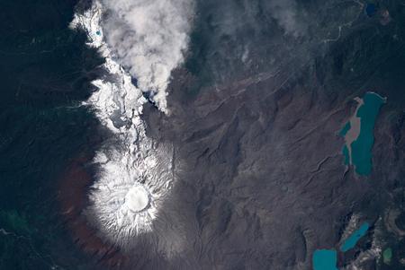 آتش فشان فعال در شیلی