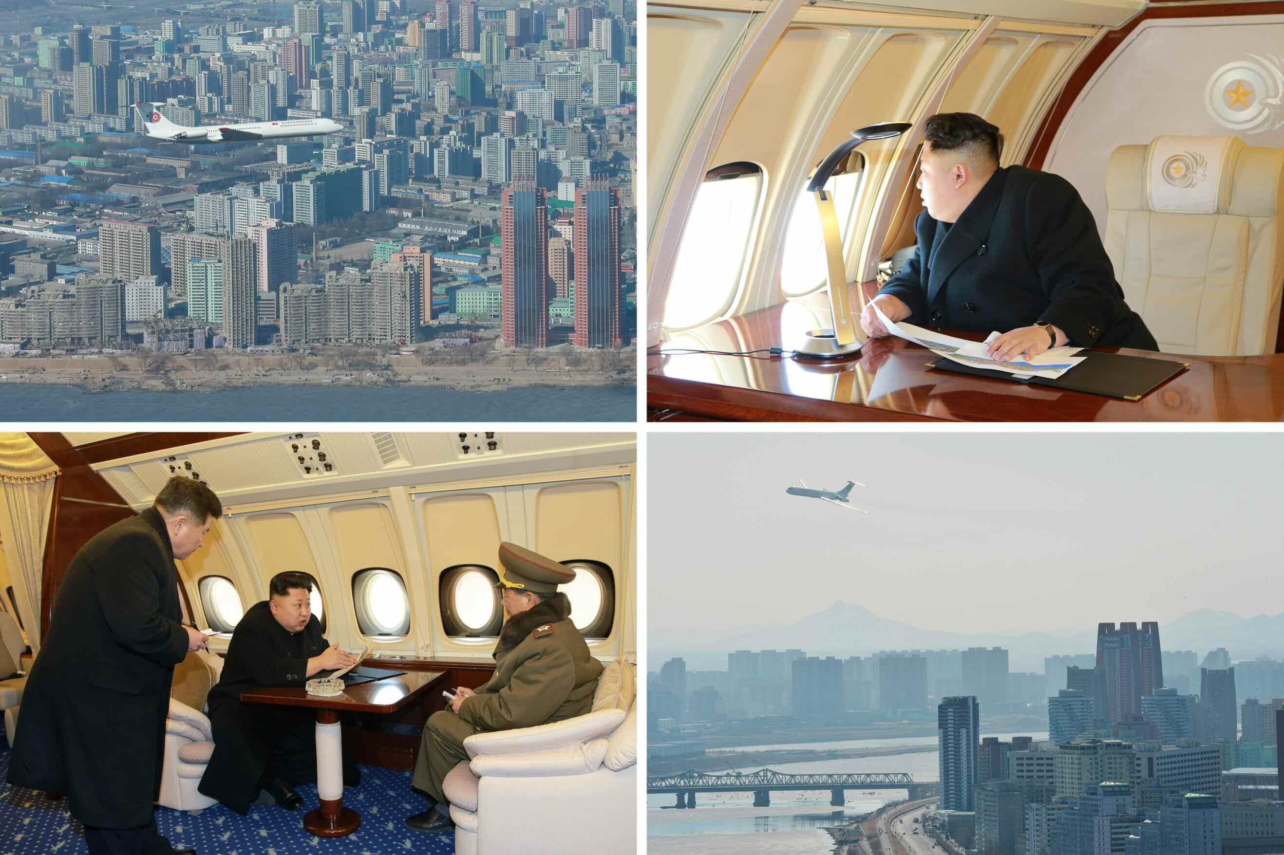 نحوه بازدید رهبر کرهشمالی از یک پروژه ساختمانی عظیم +عکس