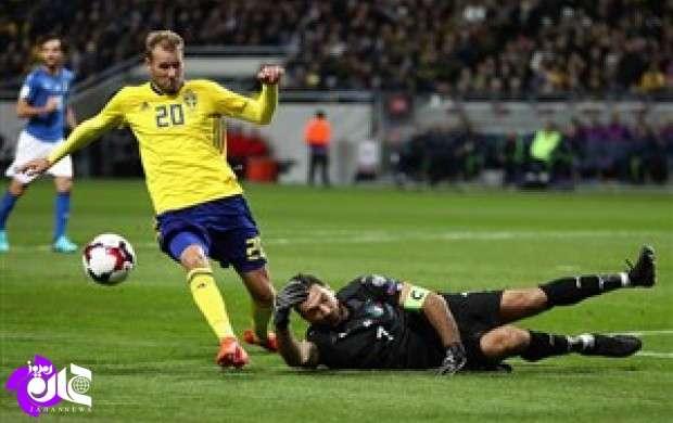 سوئد 1-0 ایتالیا؛ آتزوری در یک قدمی فاجعه