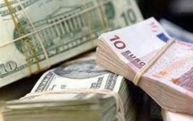 افزایش نرخ مبادله ای دلار و یورو در ۲۱ آذر