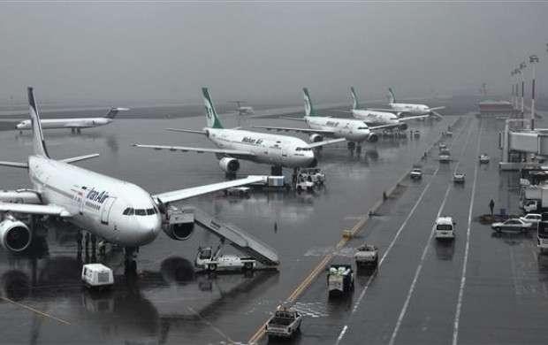 عملکرد نه چندان مطلوب پروازها در فرودگاه مهرآباد