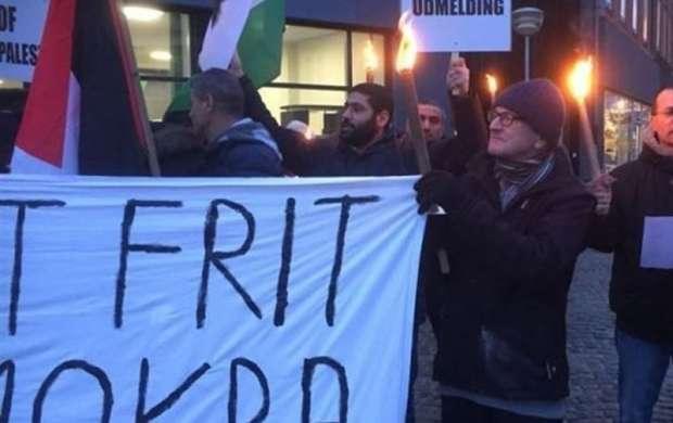 اعلام همبستگی دانمارکی ها با ملت فلسطین