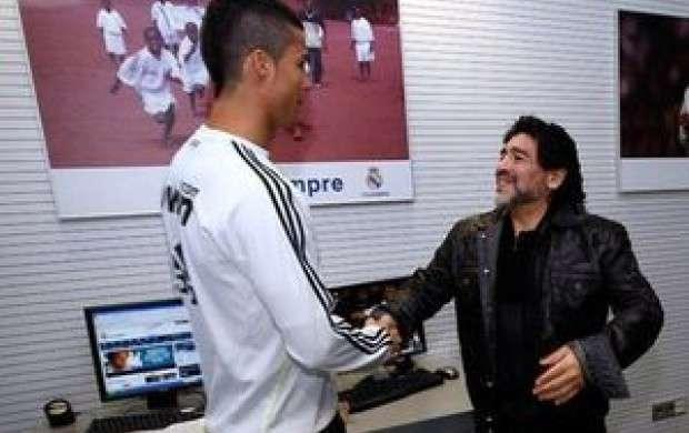 ادعای جنجالی مارادونا درباره رونالدو