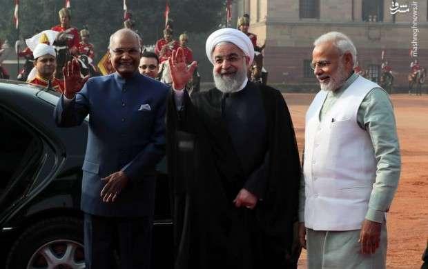 استقبال رسمی رئیس جمهور هند از روحانی