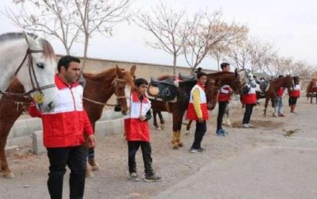 اسب سواران امدادگر از راه رسیدند
