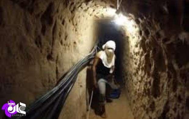 کشف تونل ۵۰۰ متری پُر از مهمات داعش در دیرالزور