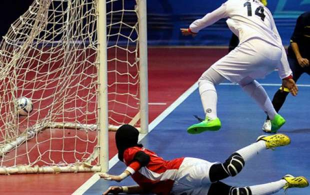 پیروزی تیم ملی فوتسال بانوان ایران مقابل روسیه