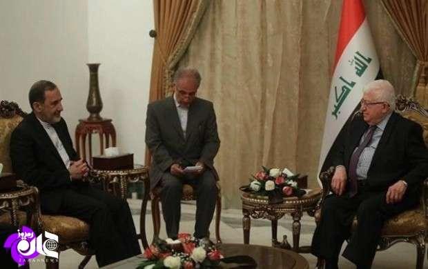 در دیدار ولایتی با رئیس جمهور عراق چه گذشت؟