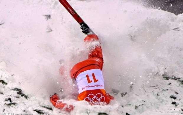 زمین خوردن در رقابت های المپیک