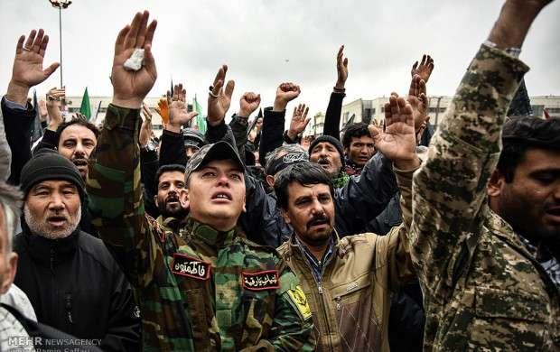 اجتماع عزاداران فاطمی و تشییع شهدا در مشهد