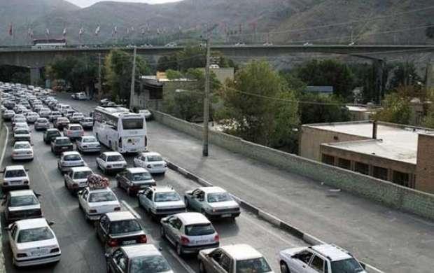 ترافیک در باند جنوبی آزادراه تهران - کرج