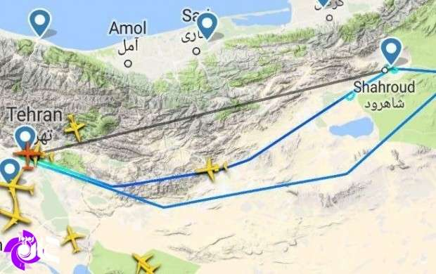 هواپیمای ATR72 تهران -شاهرود به تهران بازگشت