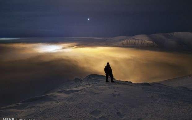 تصاویر زیبا از شفق قطبی در ارتفاعات روسیه