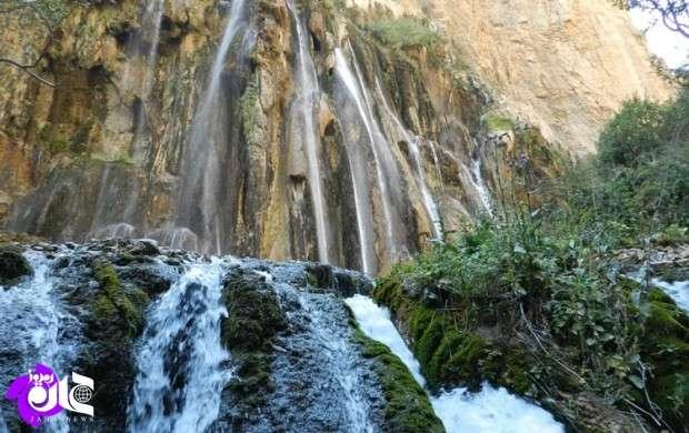 آبشار چشمه ای ایران کجاست؟ +تصاویر