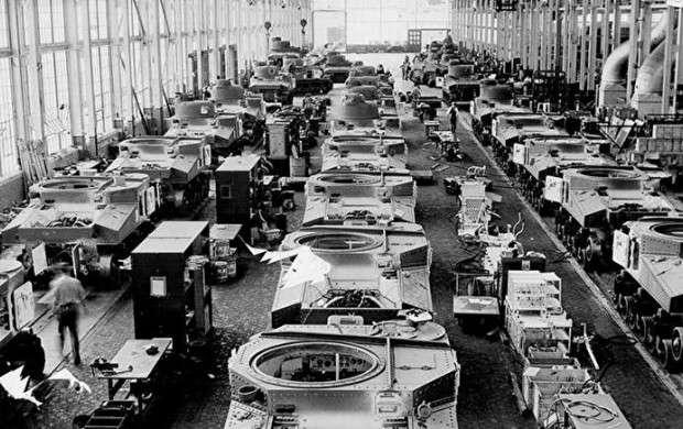 کارخانه های تانک سازی در زمان جنگ جهانی