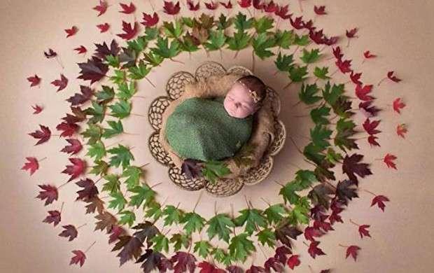 شیوه جالب در عکاسی از نوزادان