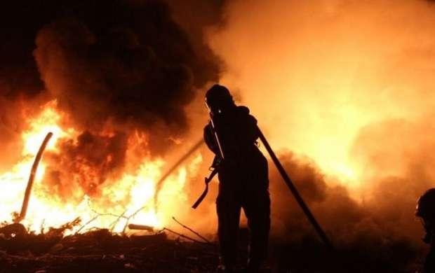 آتش سوزی درنمایشگاه عرضه محصولات در تهرانسر