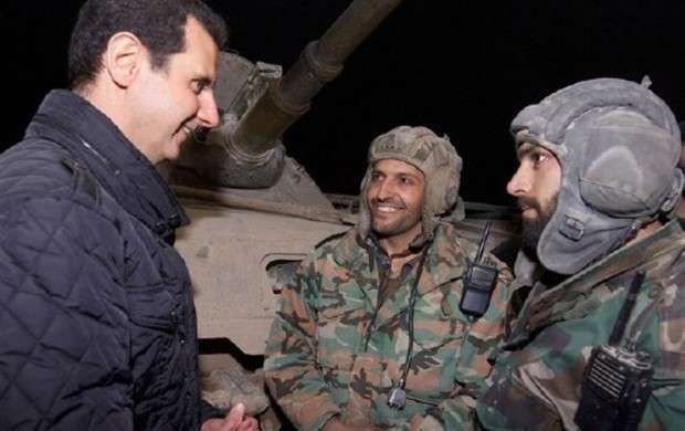 بازدید اسد از غوطه شرقی+عکس