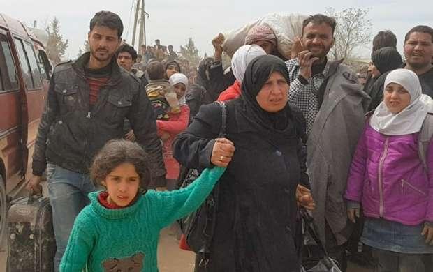 خروج هزاران غیر نظامی از بخش شمالی غوطه