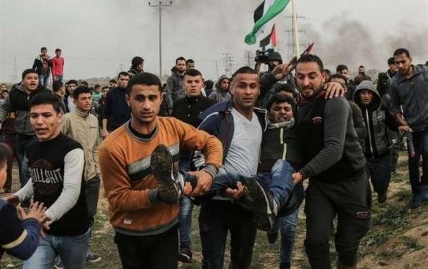 ترس صهیونیست ازراهپیمایی فلسطینیان در نوار غزه