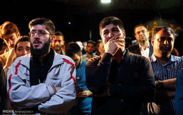 مراسم وداع با شهیدان حمله هوایی رژیم صهیونیستی