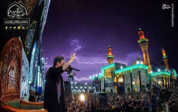 حال و هوای بارانی حرمین شریفین کاظمین(ع)