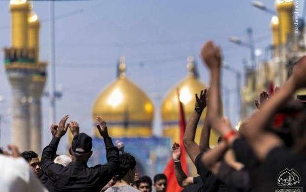 حرکت دسته های عزاداری در شهر کاظمین