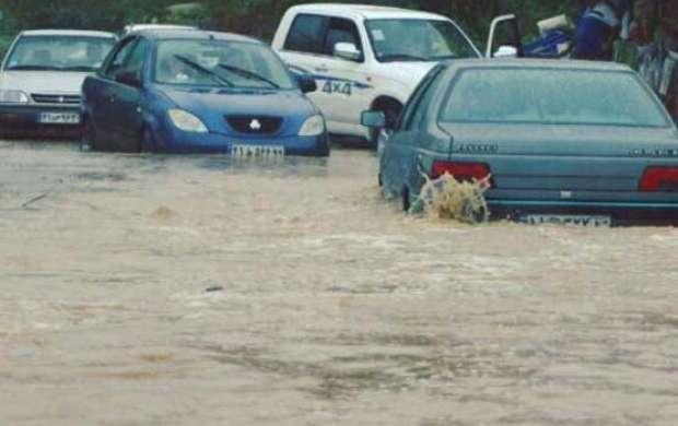 بارش باران و احتمال وقوع سیلاب در 9 استان