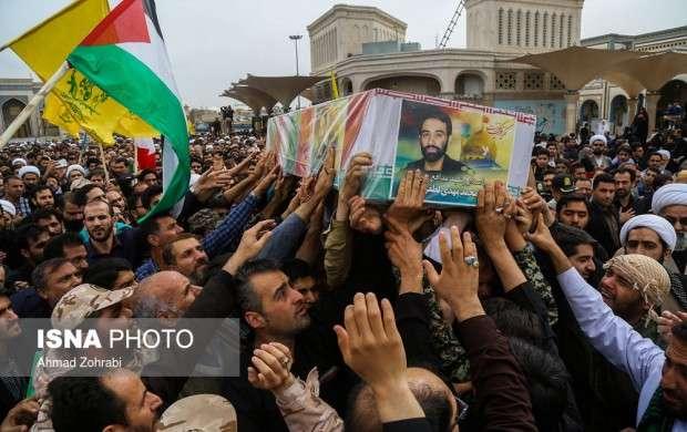 تشییع شهید حمله رژیم صهیونیستی درقم