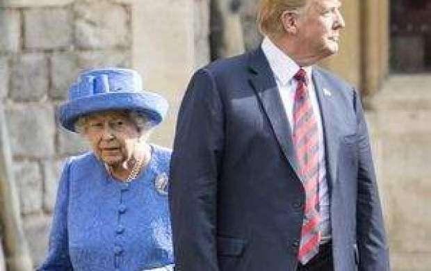 بی احترامی ترامپ به ملکه انگلیس +عکس
