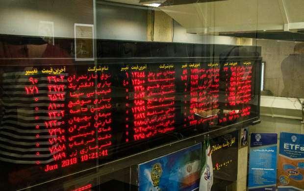 شاخص کل بورس تهران ۵۸۸ واحد افت کرد