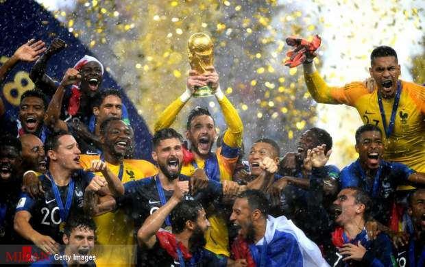 تصاویر فینال جام جهانی بین فرانسه و کرواسی