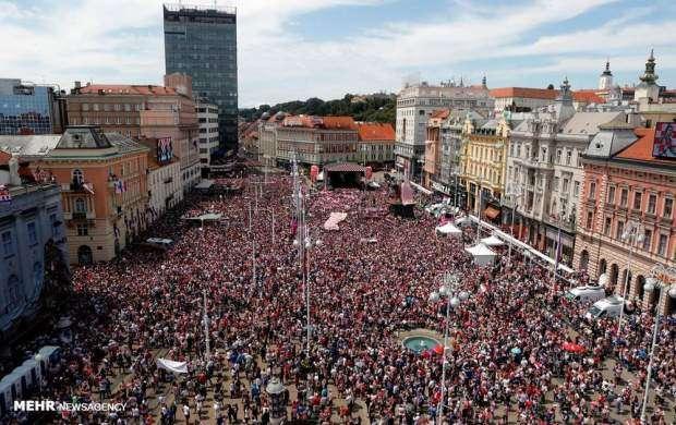 استقبال مردم کرواسی از تیم کشورشان