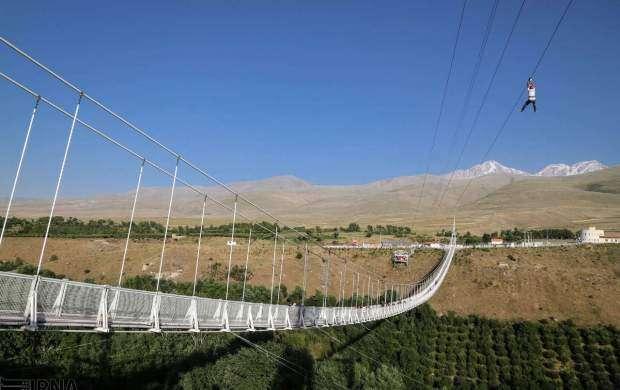طویل ترین پل معلق غرب آسیا در ایران