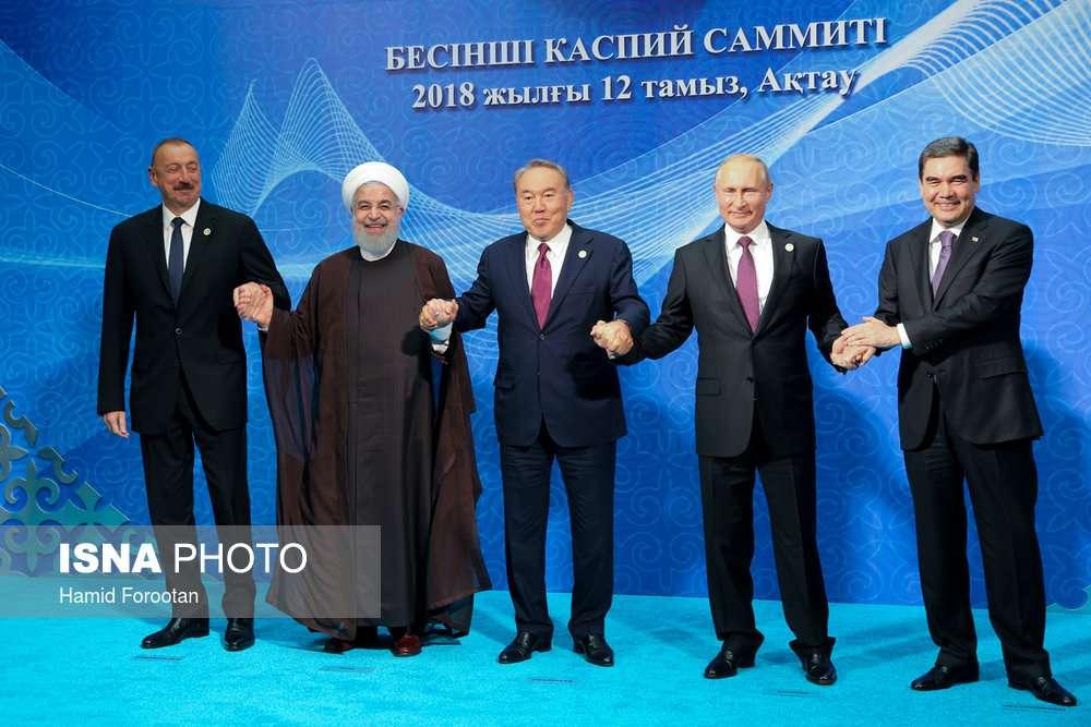 عکس یادگاری 5 رئیس جمهور حاشیه خزر