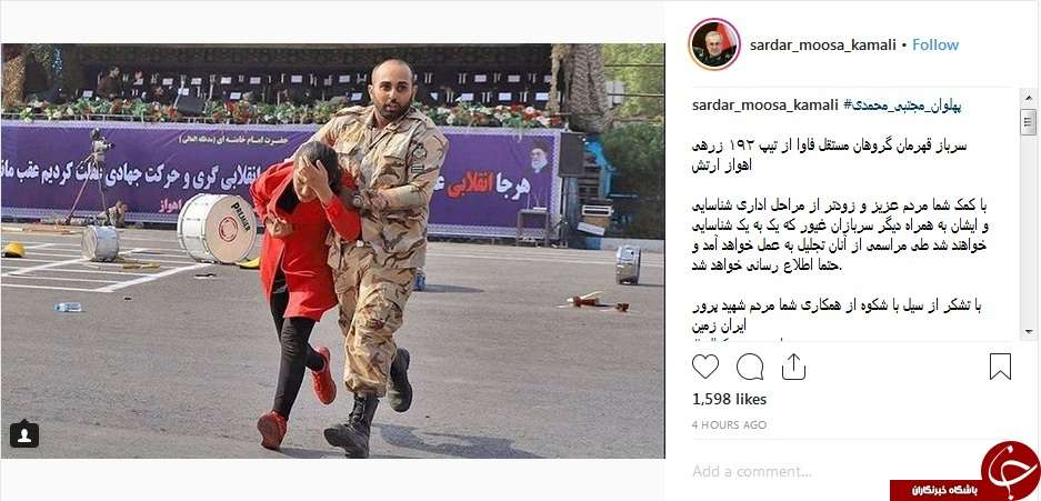 تقدیر از سرباز شجاع ارتش +عکس