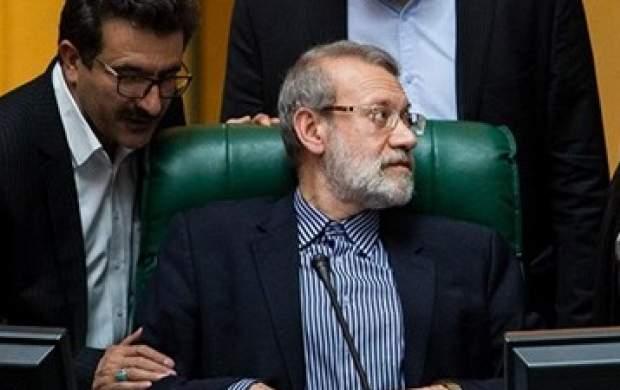 مشاجره لفظی لاریجانی با یک نماینده در صحن