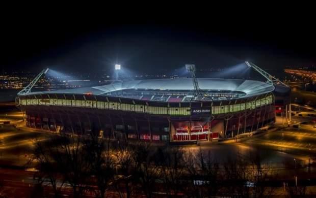ریزش سقف ورزشگاه باشگاه آلکمار هلند +عکس