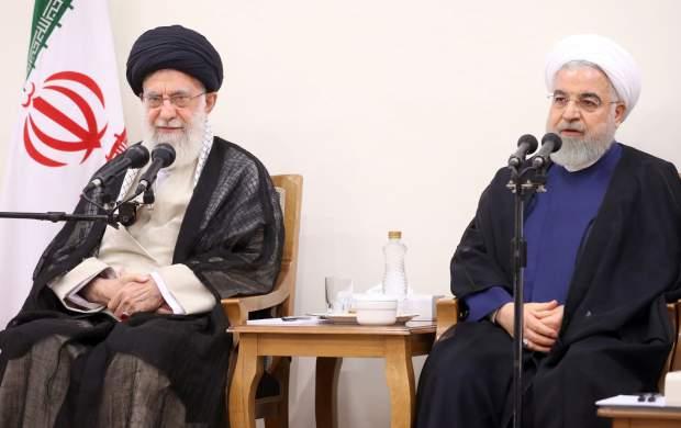 دیدار روحانی و هیأت دولت با رهبرانقلاب