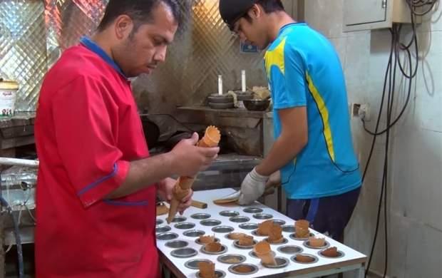 جوانی که با «نان بستنی» ۹ میلیون درآمد دارد