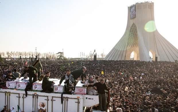 ۲۵ میلیون نفر در تشییع «حاج قاسم» شرکت کردند