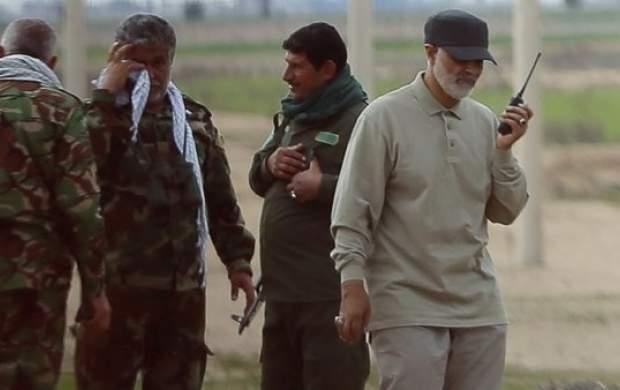 تصاویر ناب از شهید سلیمانی در میدان نبرد