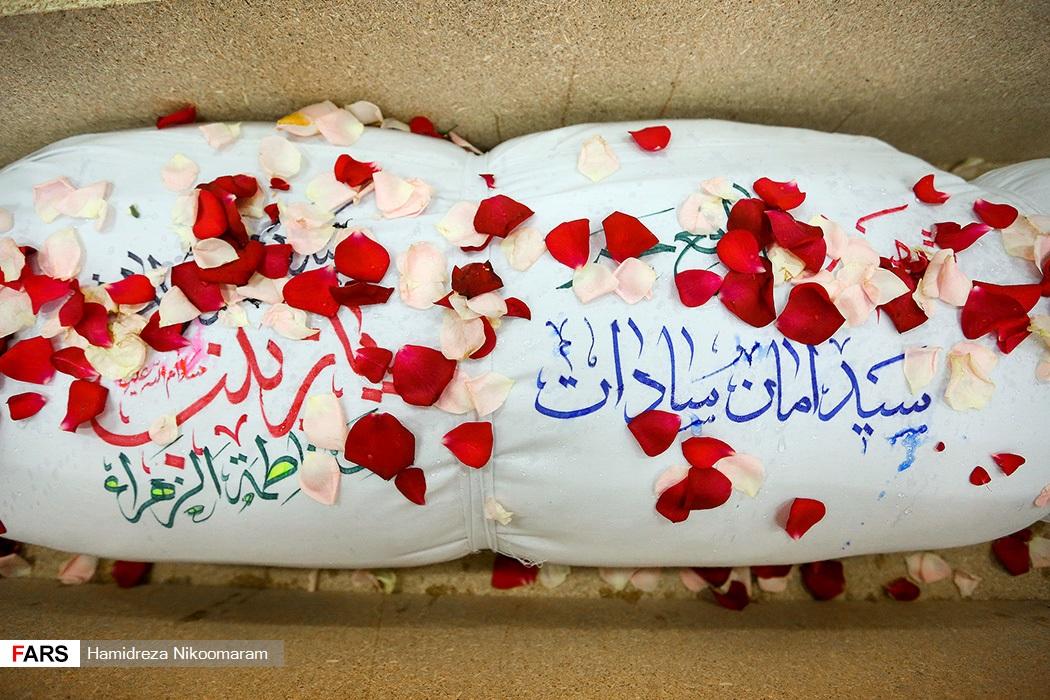 تشییع پیکر مطهر شهید مدافع حرم در اصفهان