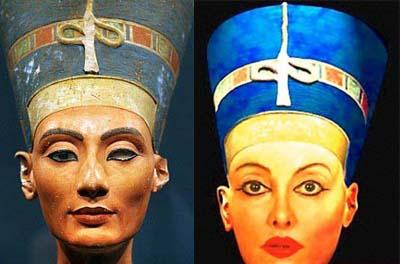 عکس: زن انگلیسی همسر فرعون شد!