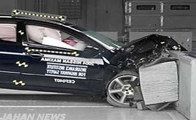 تست تصادف چند خودرو ایرانی 1