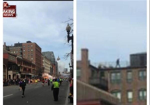 عکس انفجار بوستن